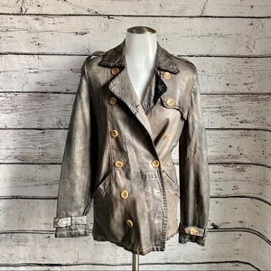 blur made in italy leather jacket